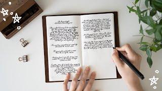 How I Improved My Handwriting // Creating A Handwriting Journal