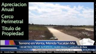 preview picture of video 'Terreno Comercial En Venta Merida Yucatan Mexico'