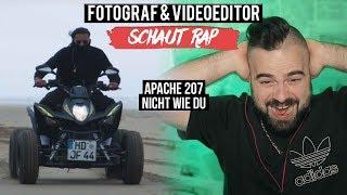 APACHE 207   NICHT WIE DU   LIVE REACTION  FOTOGRAF & VIDEOEDITOR SCHAUT RAP