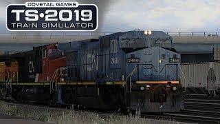 Train Simulator 2019  - Marias Pass - CN/IC Blue Devil Leads A Grain Train