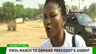PWDs march to demand President Buhari's assent to Disability bill