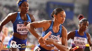 Allyson Felix's sub-50 second leg helps USA advance to 4x400 finals   NBC Sports