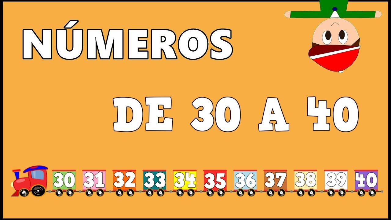 Números del 30 al 40 - Vídeos educativos para Niñosy Bebés - Paty y Poty