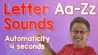 Letter Sounds Automaticity | Upper And Lower Case | 4 Seconds | Jack Hartmann