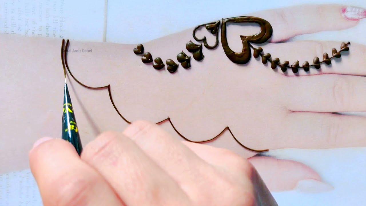 fancy mehndi design for ramzan special by kevai amit gohel