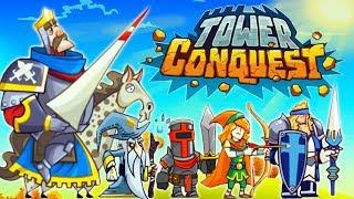 Tower Conquest: СОЗДАЛ КОРОЛЕВСКУЮ АРМИЮ! Игра как мультик для детей про бои и сражения на АРЕНЕ