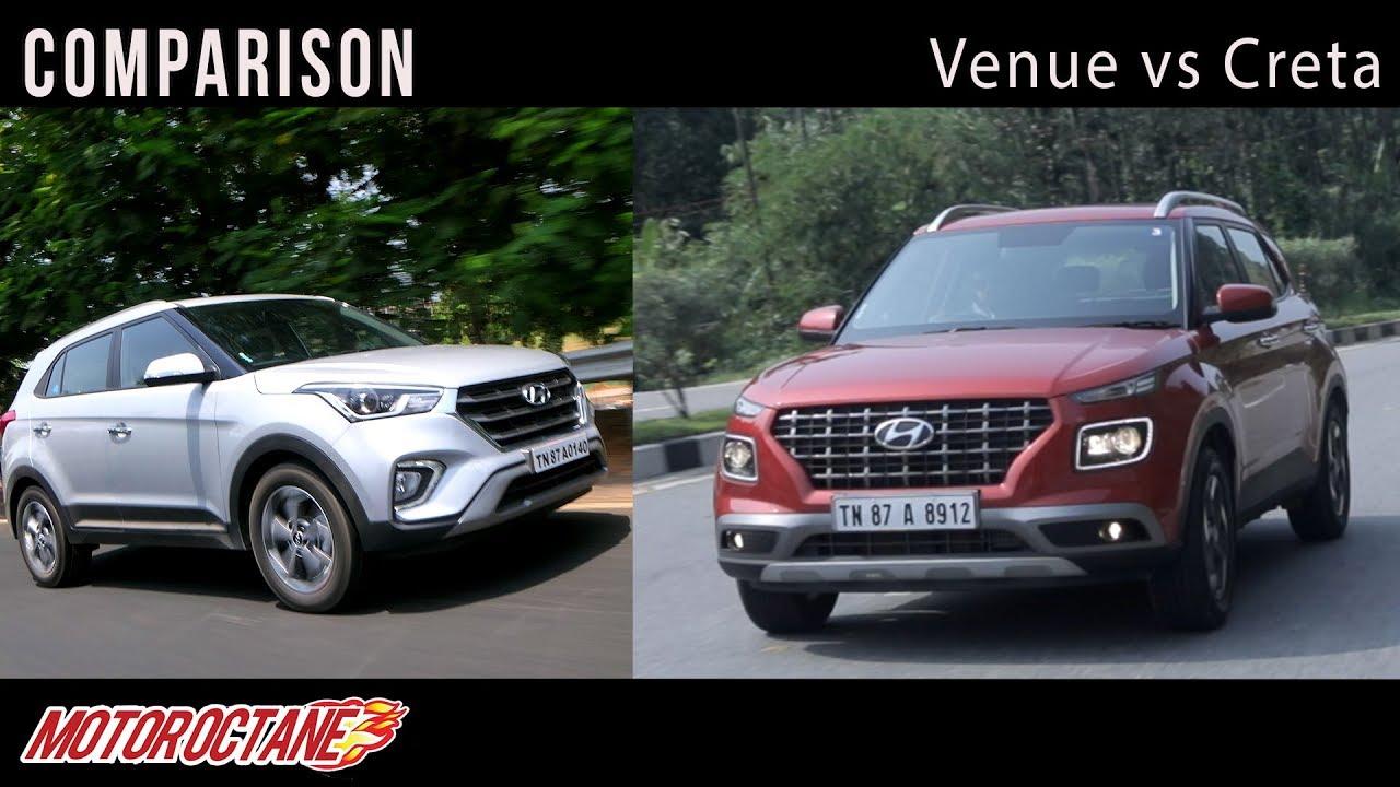 Motoroctane Youtube Video - Hyundai Venue vs Hyundai Creta comparison | Hindi | MotorOctane