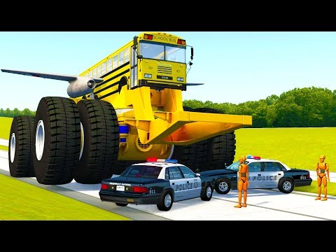 MONSTER MACHINES VS POLICE BLOCKADE CRASHES AND FAILS! - BeamNG Drive Crash Test Compilation