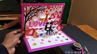 Beautiful Birthday Greeting Card Idea | DIY Birthday POP-UP card | Friendship Day card!