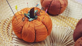 DIY Pumpkin Pincushion