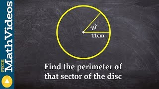 PC Unit 3 How to find the perimeter of a sector using arc length formula