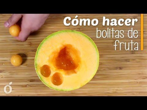 Cómo hacer Bolitas de Fruta