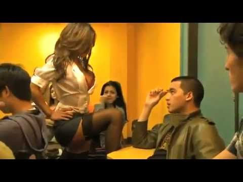 Funny sexy hot girl teacher and student boy