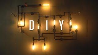 DIY Industrial Wall Pipe Lamp Tutorial / Build Guide