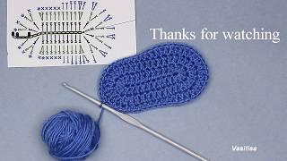 Crochet Baby Shoe Sole