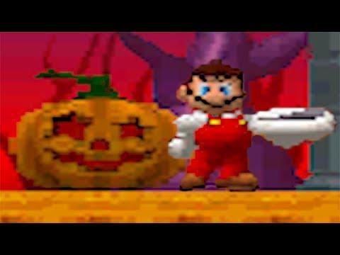 Newer Super Mario Bros DS 100% Walkthrough Part 4 - Pumpkin Boneyard (All Star Coins & Secret Exits)