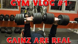 Gym Vlog #1 - The Gainz Are Being Gained