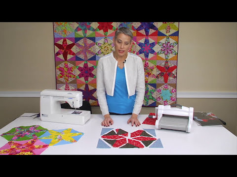 From the Sizzix Quilting Workshop: Using the Hex Star Die and Your Fabric Scraps for Fantastic Quilts