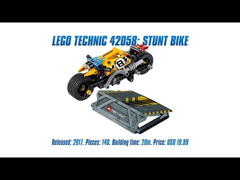 Vidéo LEGO Technic 42058 : La moto du cascadeur