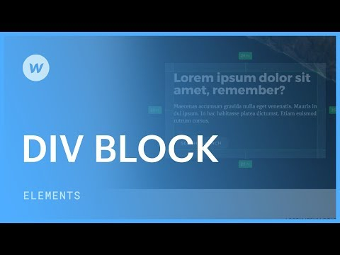 Div blocks - Web design tutorial