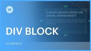 Div blocks - Web design tutorial