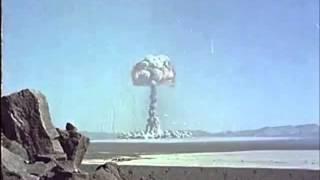 Nevada Atom Bomb Test - Colour Footage of Mushroom Cloud