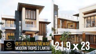 Video Desain Rumah Modern 3 Lantai Bapak Irawan di  Jakarta