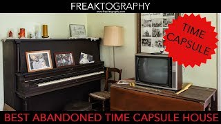 Urban Exploration: INCREDIBLE Abandoned Time Capsule House.