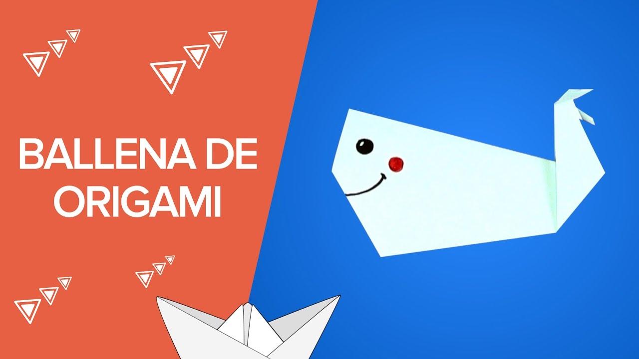 Ballena de origami | Animales de papel paso a paso