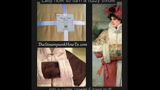 Easy Steampunk Winter Capelette And Hand Muff