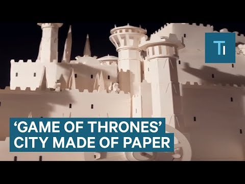Awesome Game Of Thrones Opening Sequence Made of Paper