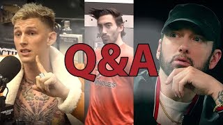 Q&A - Eminem vs MGK, Vince Delmonte's $100 Pre-Workout, & More