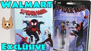Walmart Exclusive Spider-Man Into the Spider-Verse Blu Ray Unboxing