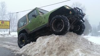 Southern Ontario 4x4 Off-Road Club winter trail run at the South Wind Motel