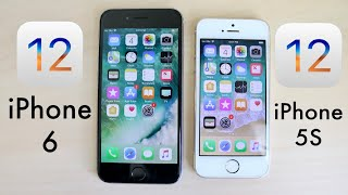 iPHONE 5S Vs iPHONE 6 On iOS 12! (Speed Comparison)