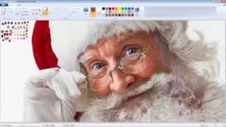 Когда у тебя прямые руки реалистичная картина Санта Клауса в пеинте