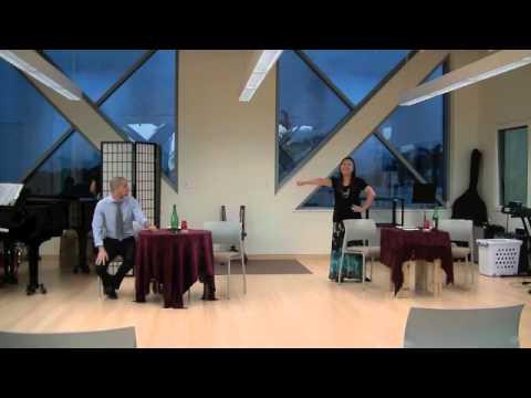 "Rehearsal- ""Elixir of love"" duet scene with Nemorino and Adina."