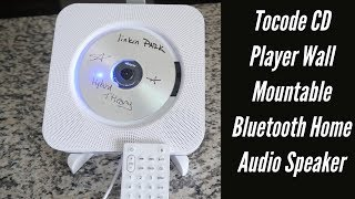Amazing Tocode CD Player Wall Mountable Bluetooth Home Audio Speaker   Unboxing And Review w