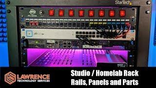 Our Studio / Homelab Rack, Rails, Patch Panel, Cables and Parts Setup