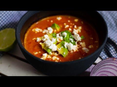 Die Abmagerung mit der Creme von der Suppe