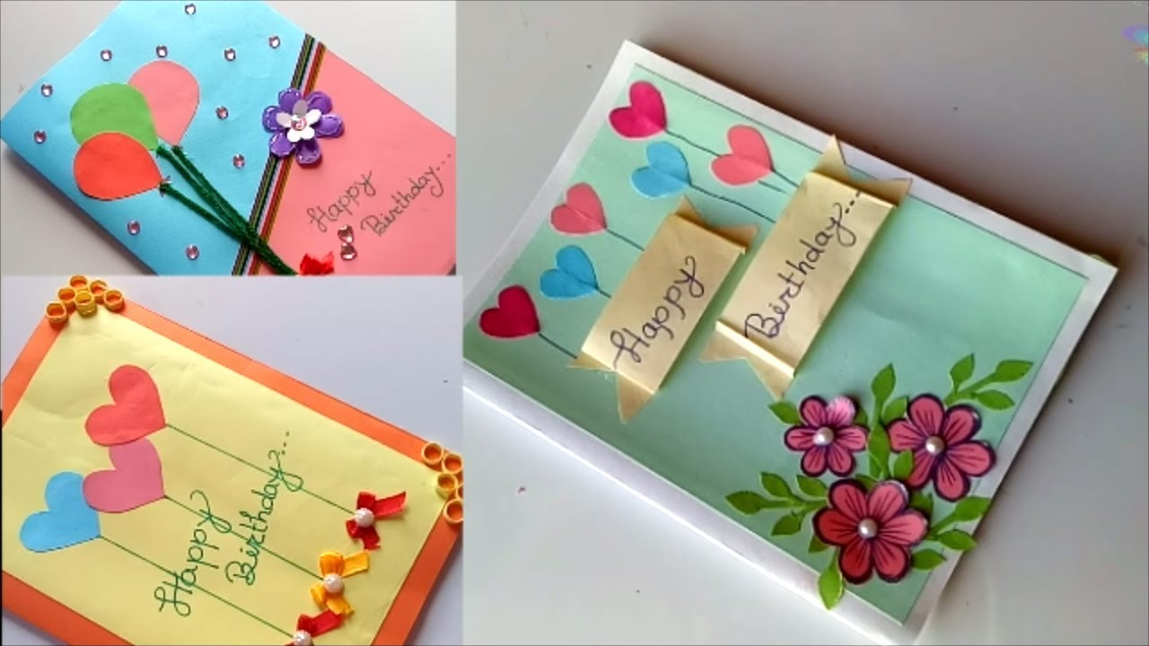 Geburtstagskarte Gestalten Beautiful Handmade Birthday Card Idea-diy Greeting Cards