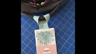 How to Sew a Fabric Luggage Tag by Sewspire