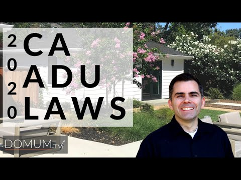 ADU or In Law Suites Current California Laws 2020
