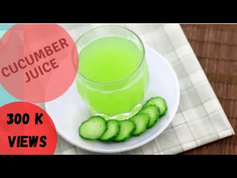 Video How to make Cucumber juice at home - quick recipe