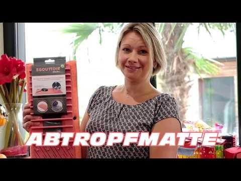 Abtropfmatte - Mikrofasermatte mit integriertem Abtropfgestell für Ihr Geschirr - 20660