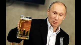 Путин залпом пьет пиво vs Борис Ельцин пьет пиво и кое-что покрепче! /Putin drinks vodka beer