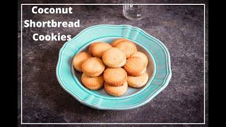 Coconut Shortbread Cookie Recipe | Gluten Free Coconut Flour Cookies