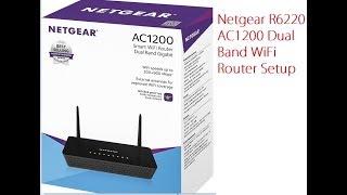Netgear R6022 AC1200 Dual Band WIFi Router Setup first time
