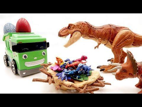 Jurassic World2 Dinosaur eggs hatching And Transforming Robot! Dinosaur Toys With Speed, 공룡메카드 알