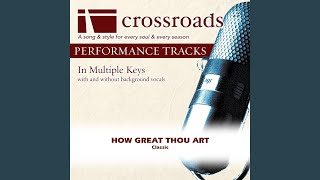 How Great Thou Art (Performance Track Low with Background Vocals in G)